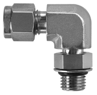 Positionable SAE/MS Male Straight Thread Elbow (DLO)