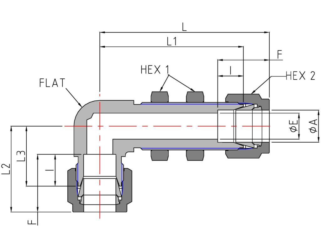 Bulkhead Union Elbow (DSL)